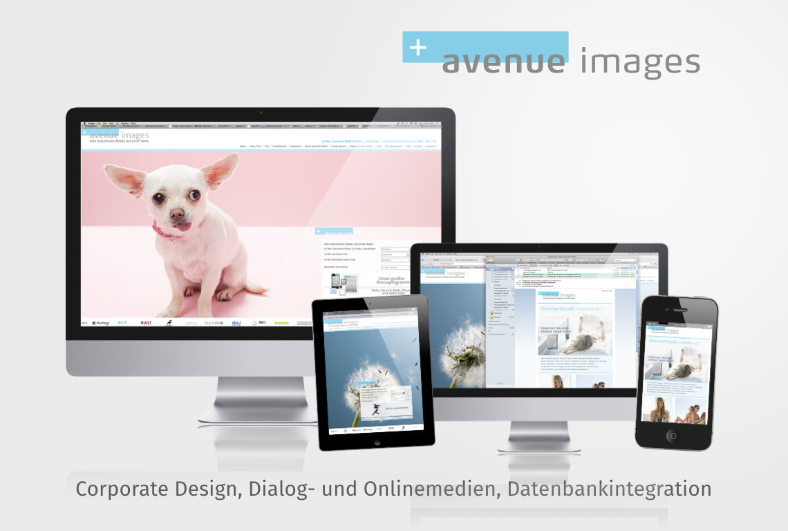 Corporate Design, Dialog- und Onlinemedien, Datenbankintegration