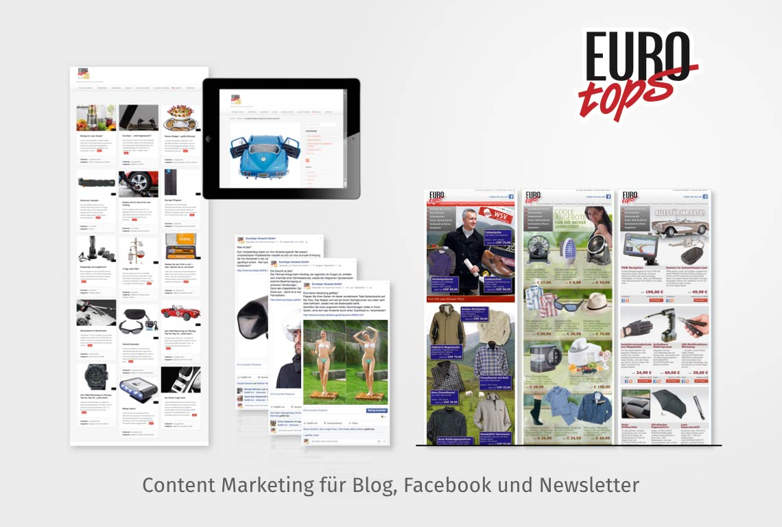 Content Marketing für Blog, Facebook und Newsletter