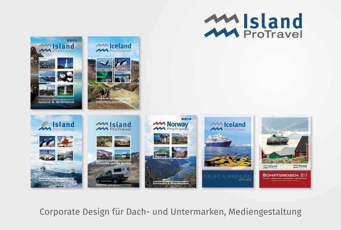 Corporate Design für Dach- und Untermarken, Mediengestaltung