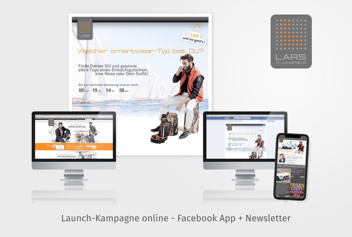 Launch-Kampagne online - Facebook App + Newsletter