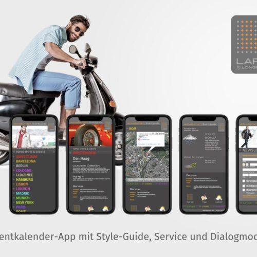 Eventkalender-App mit Style-Guide, Service und Dialogmodul