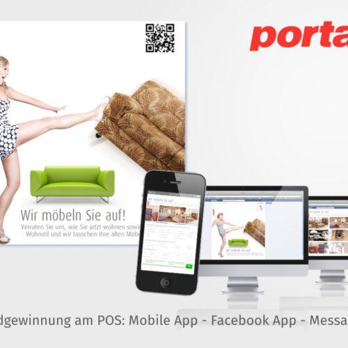 Leadgewinnung am POS: Mobile App - Facebook App - Messaging