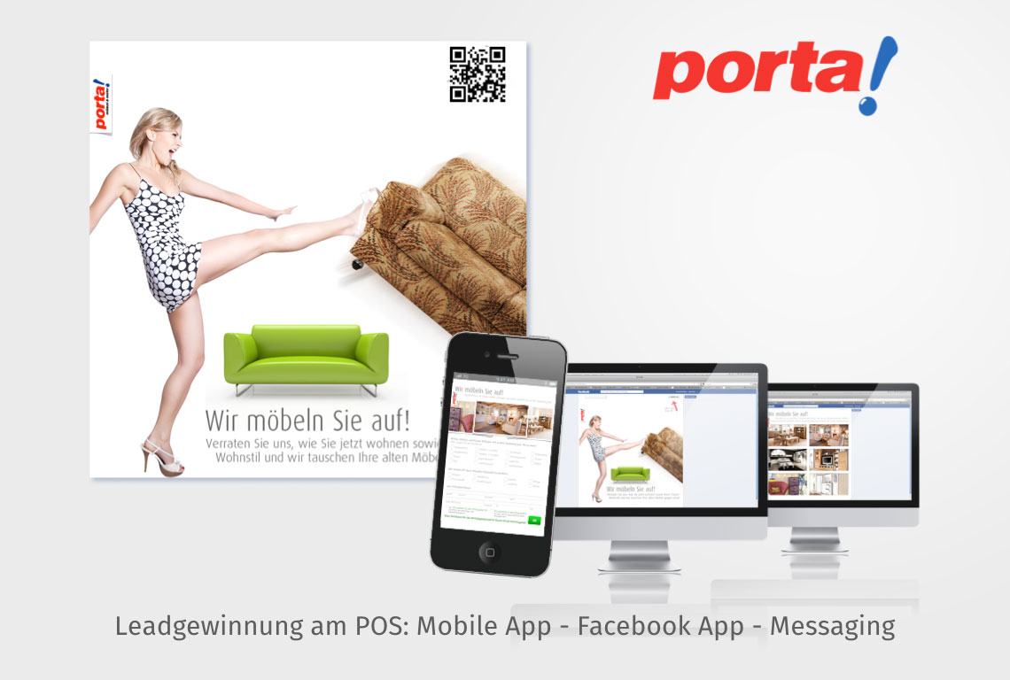 Leadgewinnung am POS: Mobile App - Facebook App - Messaging