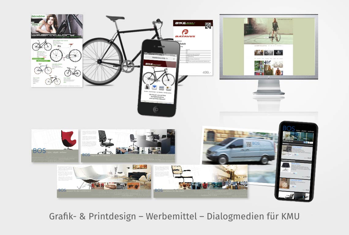 Grafik- & Printdesign – Werbemittel – Dialogmedien für KMU