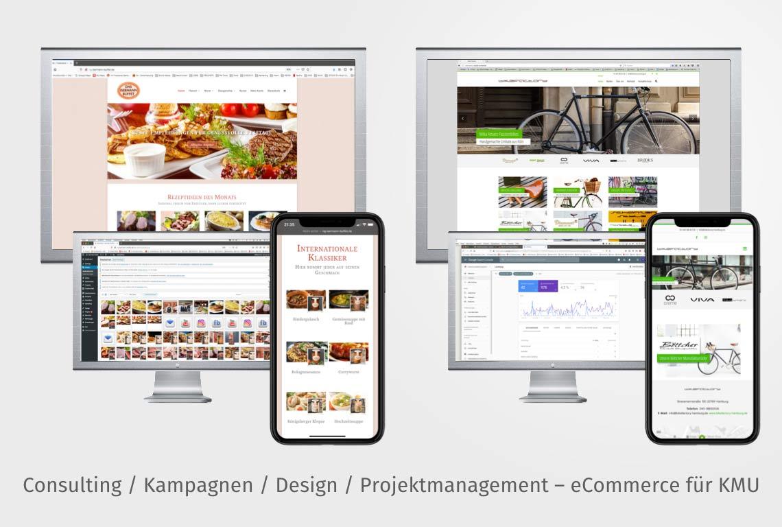 Konzeption und Projektmanagement für die Umsetzung von Webshops