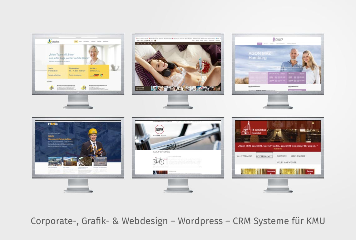 Corporate-, Grafik- & Webdesign – Wordpress – CRM Systeme für KMU